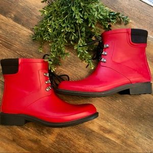 Merona Red Rain Boots! Never worn!